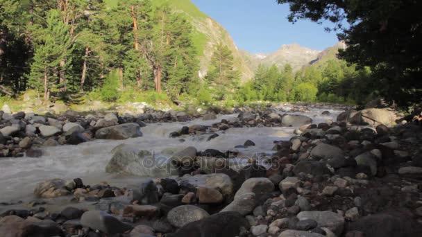 Mountain river of Elbrus region