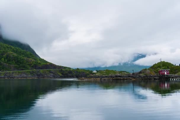 Timelapse of mountain landscapes on the Norwegian Sea