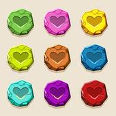 barvy kamene tlačítka, starobylého amulet