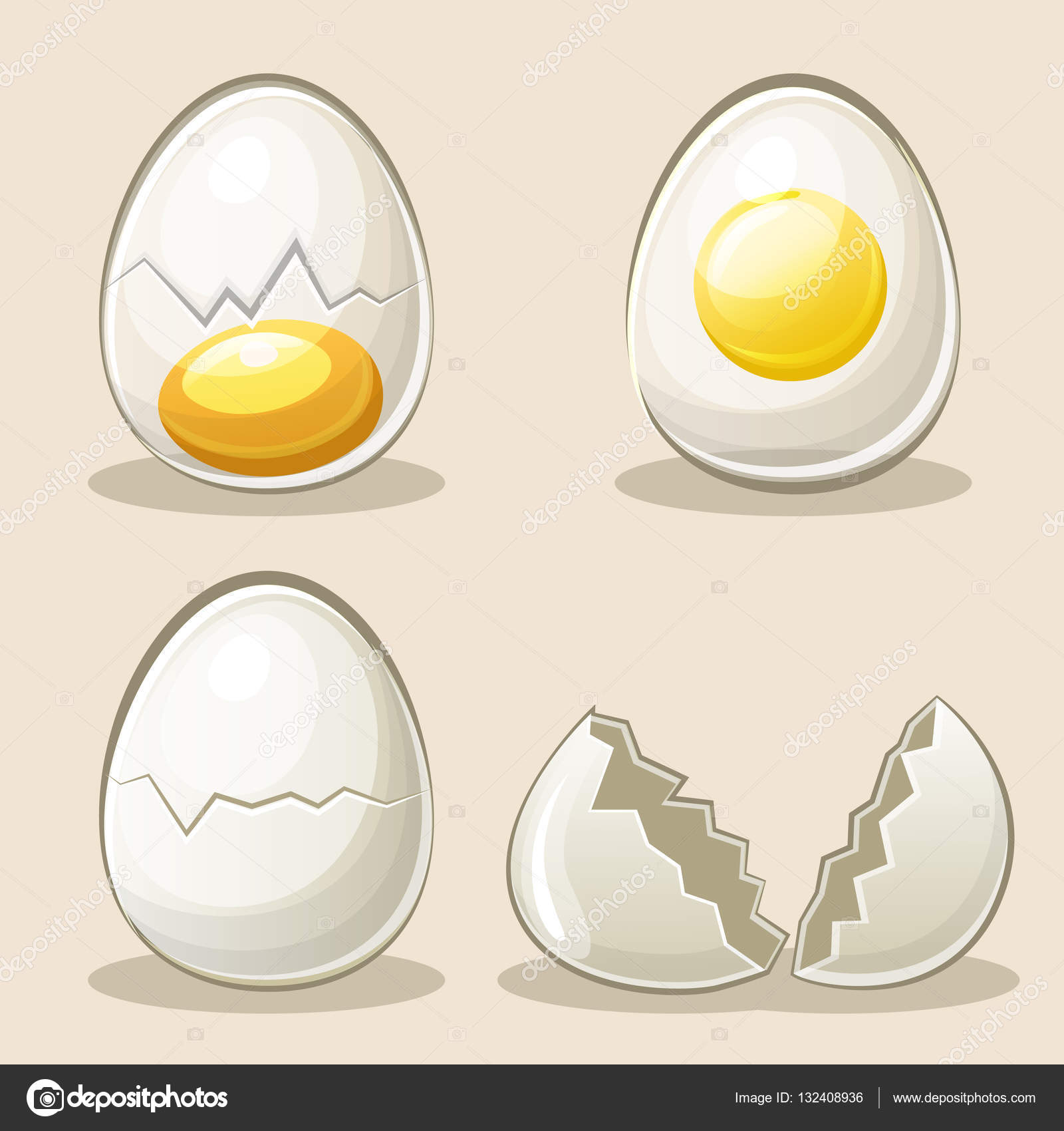 cartoon eggs in vector elements u2014 stock vector babysofja gmail