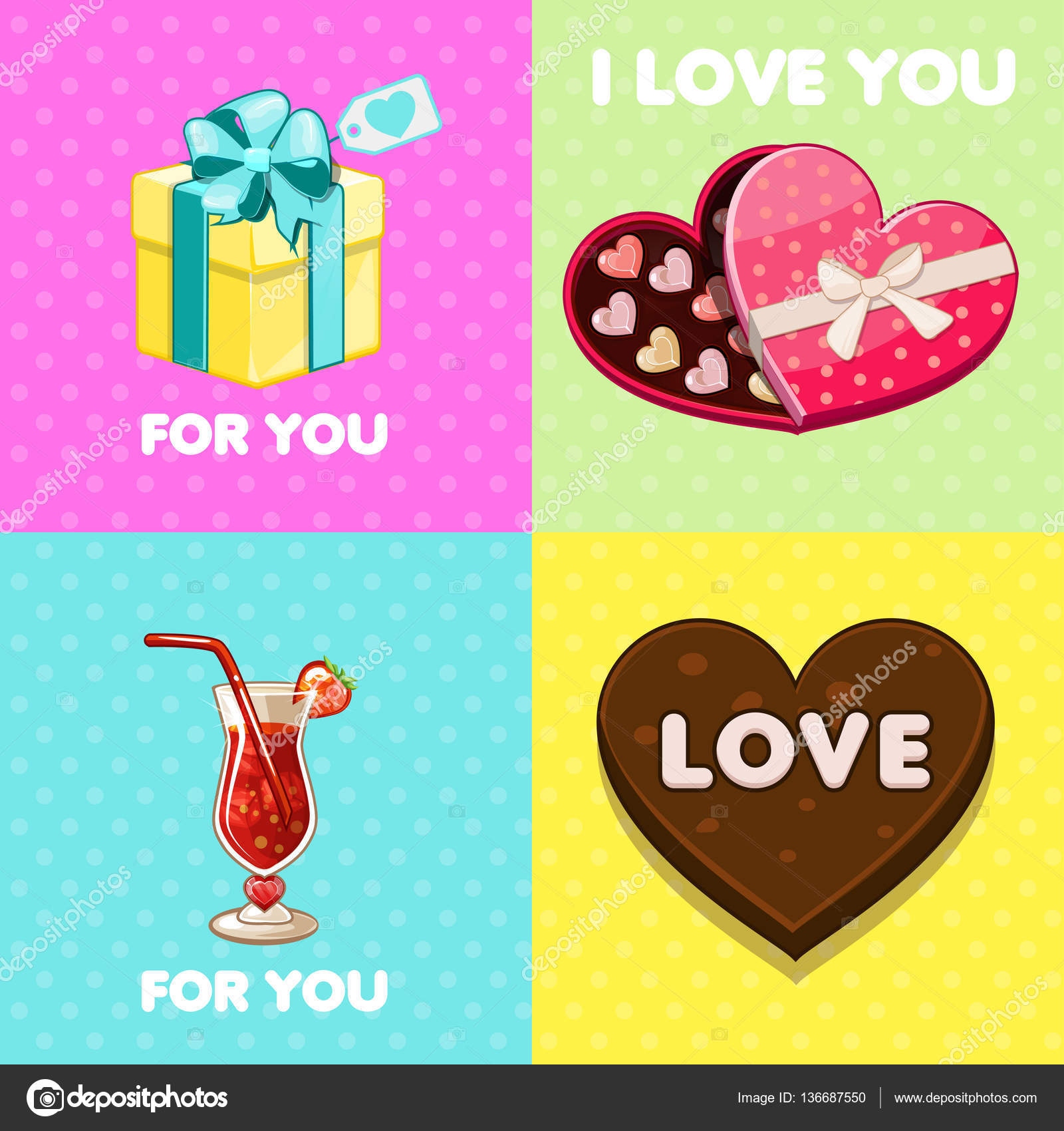 Pack of nice valentine greeting cards Vector BabySofja – Nice Valentine Cards