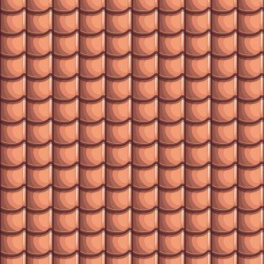 Cartoon Roof Tiles Seamless Background