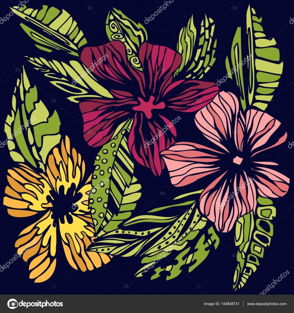 Elegante fiori disegni stilizzati colorati for Fiori stilizzati colorati