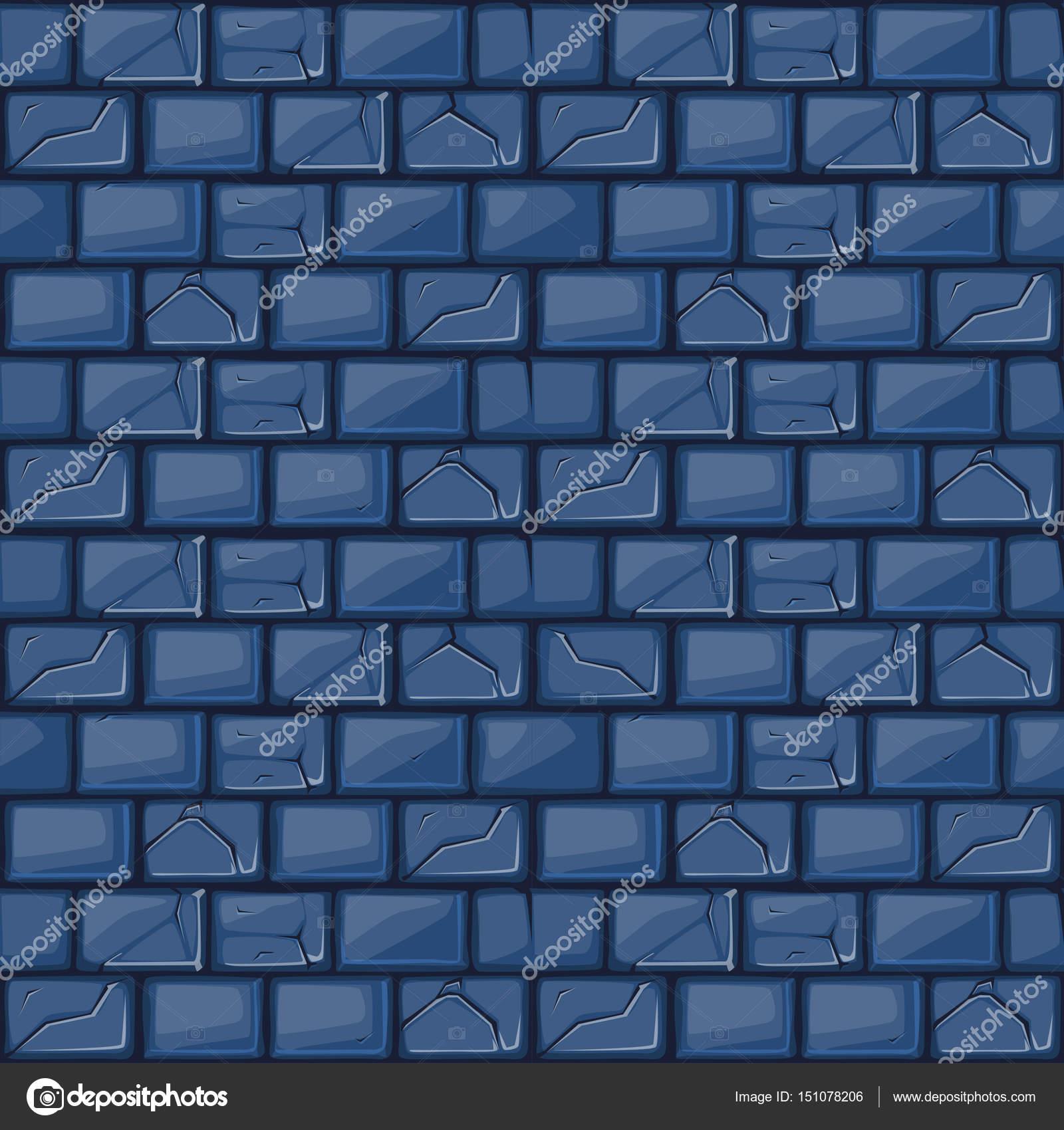 Texture De Mur Pierre Bleue De Dessin Animé Image Vectorielle