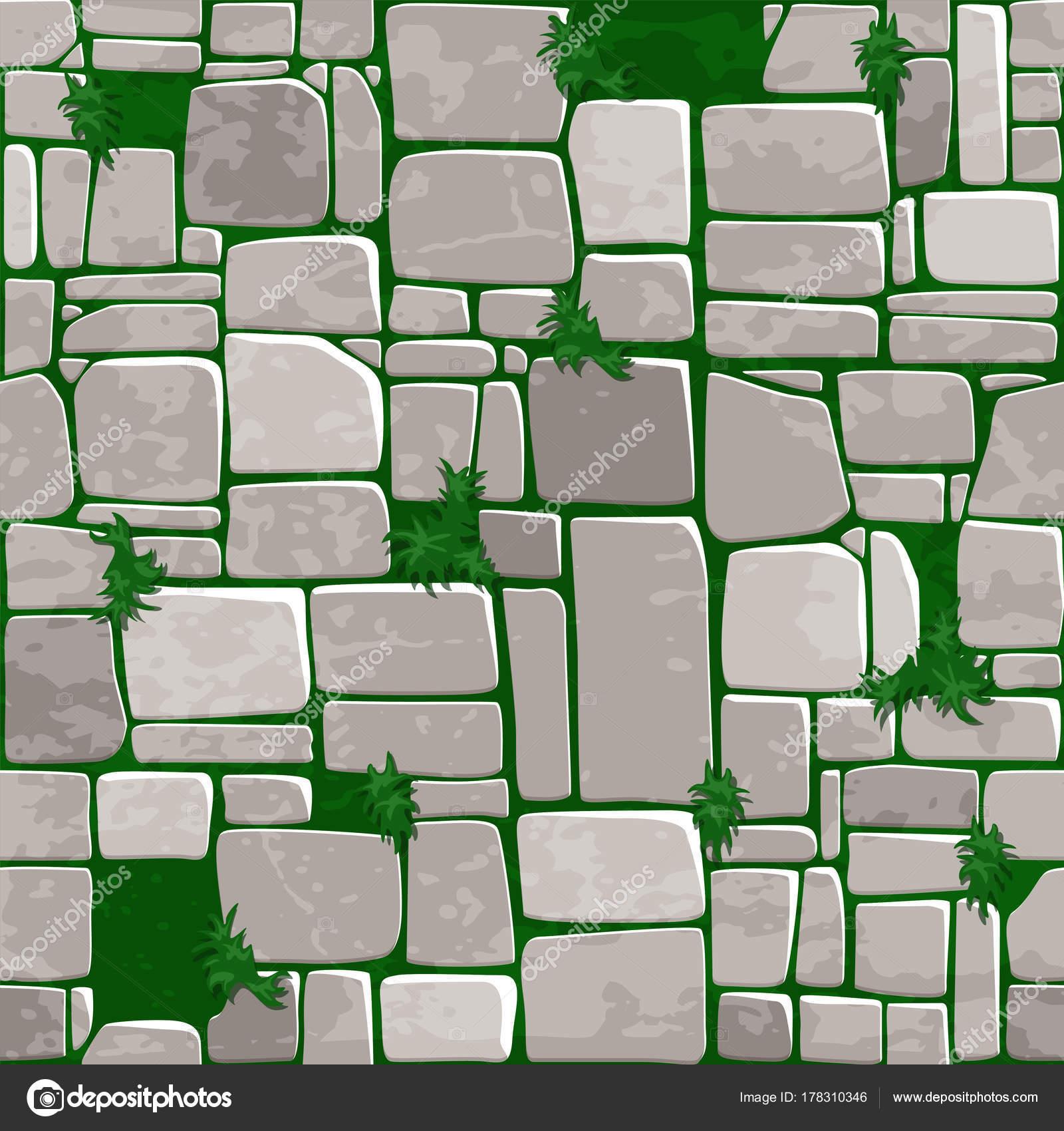 cartoon seamless background texture grey stone on grass vector illustration for ui game element u2014 by babysofjagmailcom grass game29 grass
