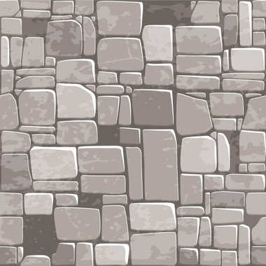 Seamless background texture grey stone wall. Vector illustration For Ui Game element