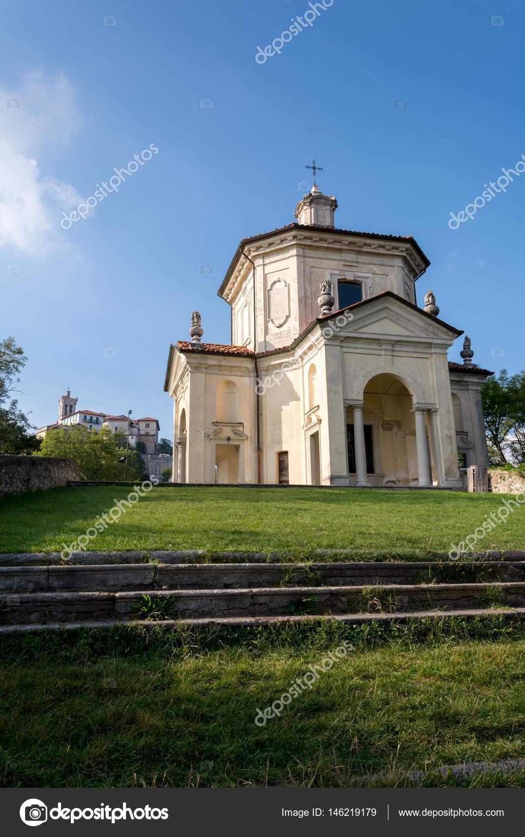 Veertiende kapel op de Sacro Monte di Varese. Italië — Stockfoto ...