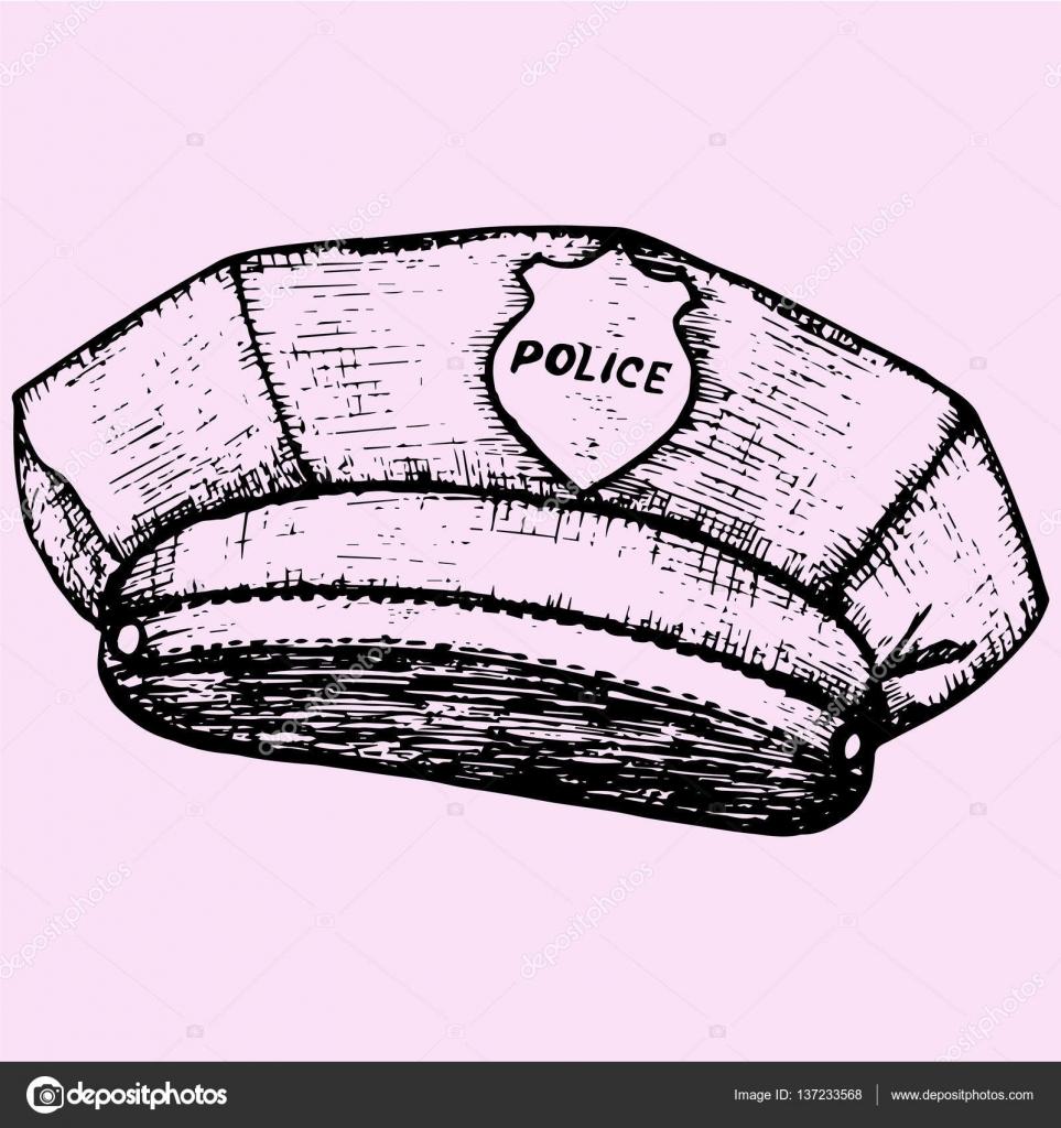 Polis Doodle Kap Stok Vektör Turchenko3560gmailcom 137233568