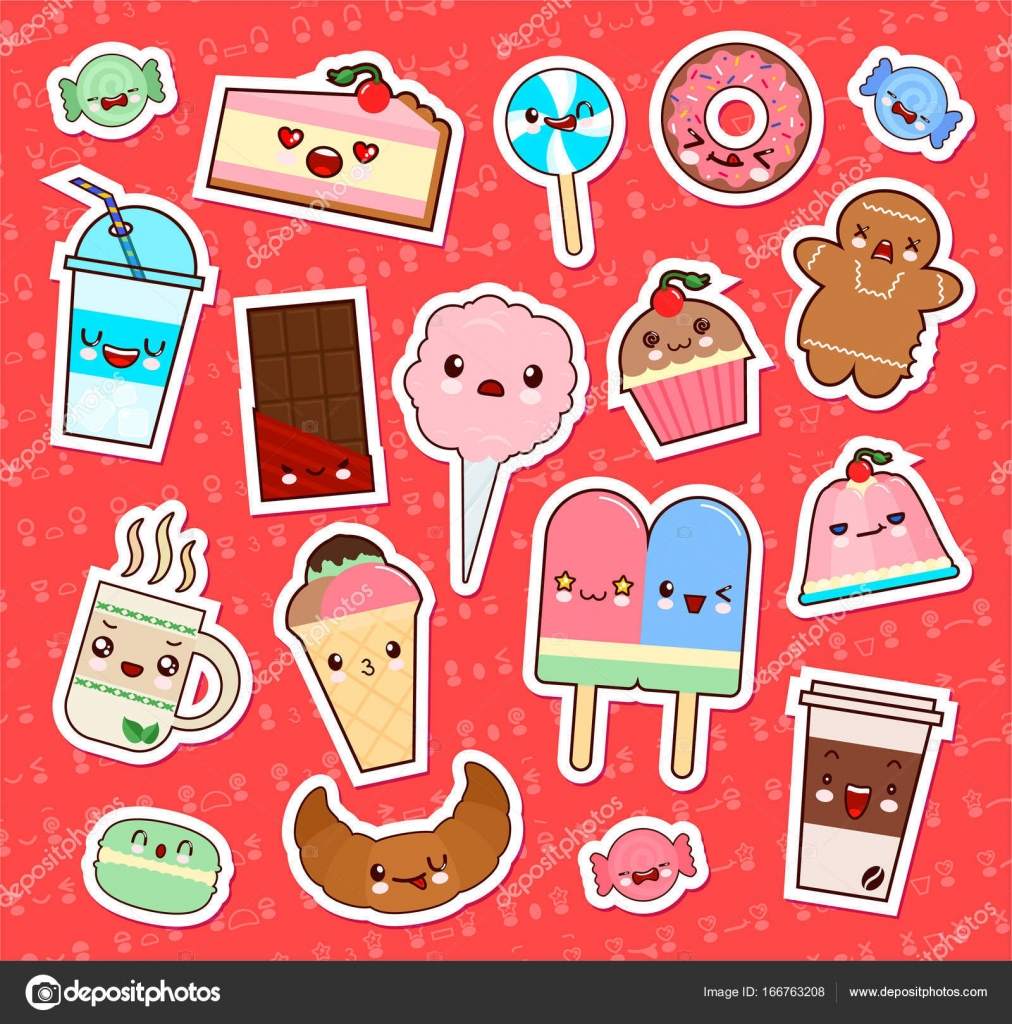 cute kawaii food stickers satu sticker. Black Bedroom Furniture Sets. Home Design Ideas