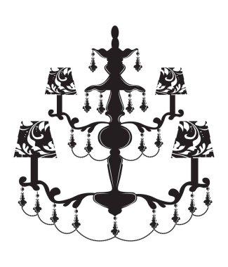 Classic baroque chandelier