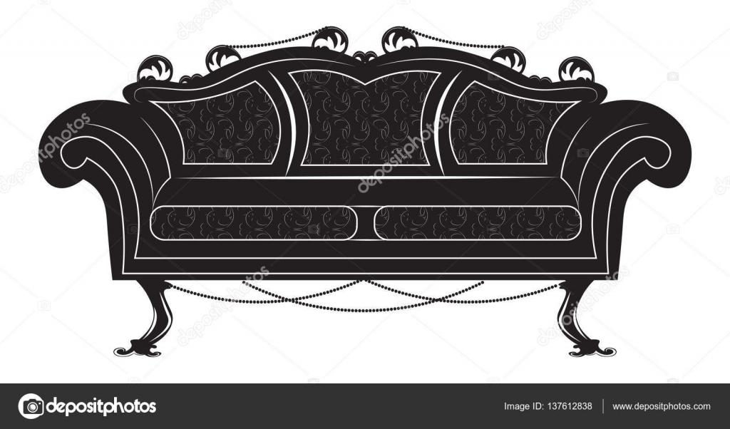 Muebles Del Sof Vintage Estilo G Tico Vector De Stock  # Muebles Cuento De Hadas
