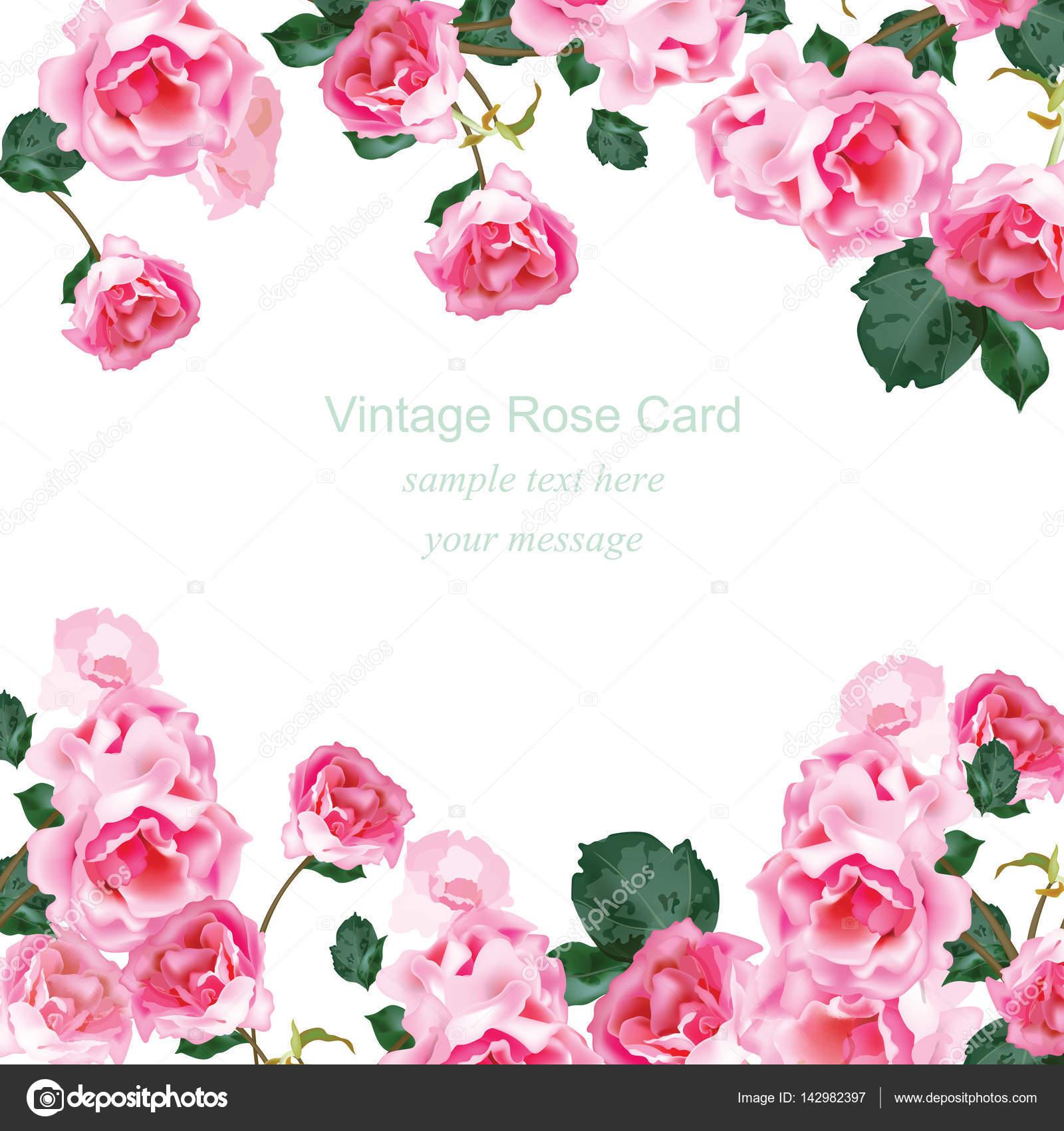 Tarjeta de invitaci n con ramo de rosas de acuarela for Rosas de decoracion