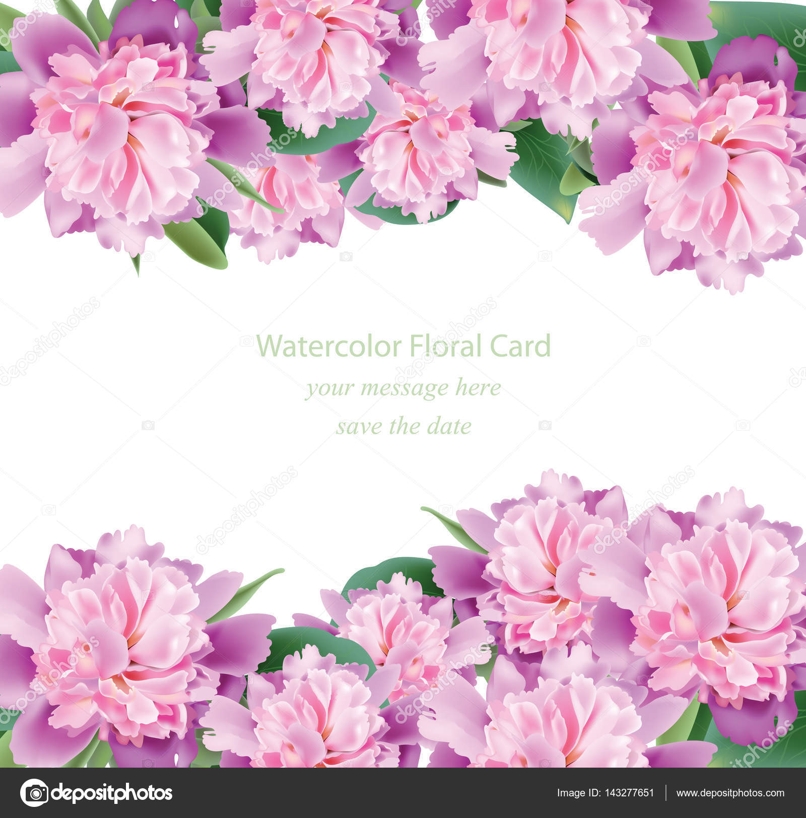 Invitation card with realistic Vintage peony bouquet Vector. Floral ...