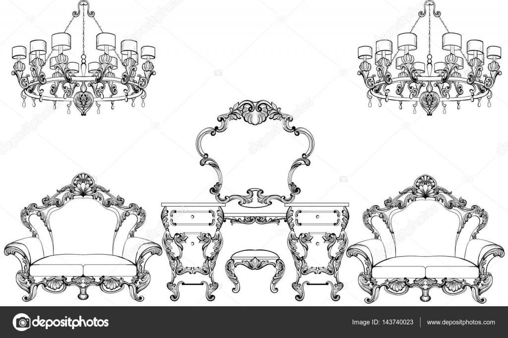 Exquisite fabelhafte Imperial Barock Möbel und Schminktisch ...