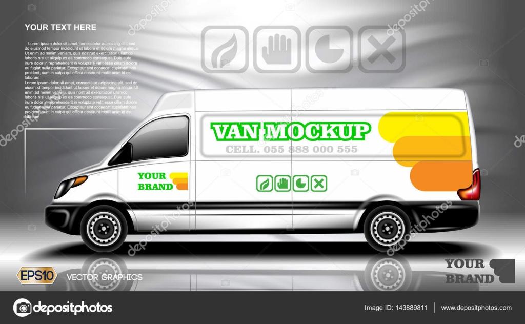 Digitale Vektor weißes realistische Fahrzeug Auto Mockup, bereit für ...