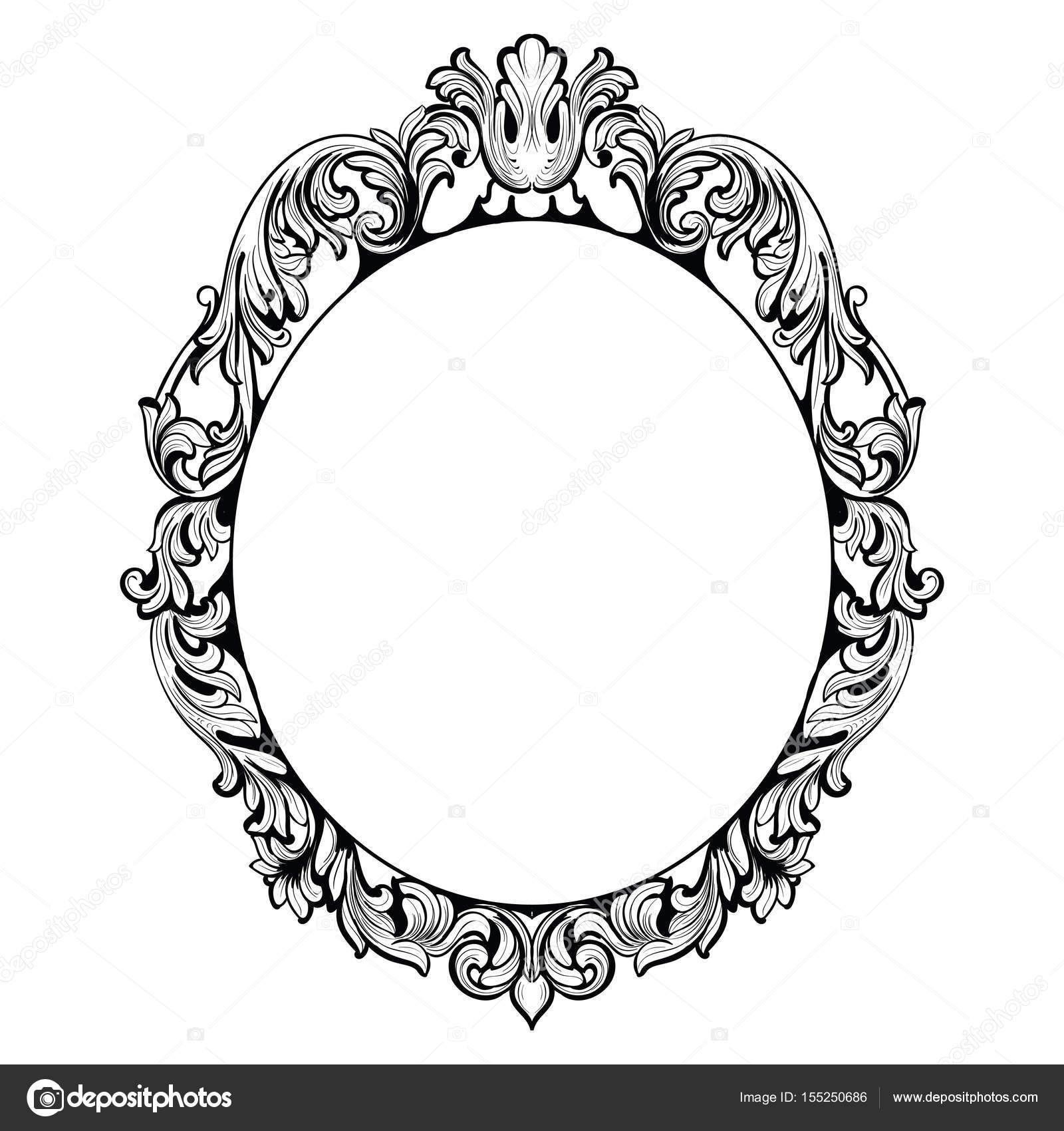 vintage imperial baroque mirror frame vector french luxury rich rh depositphotos com victorian oval frame vector victorian picture frame vector