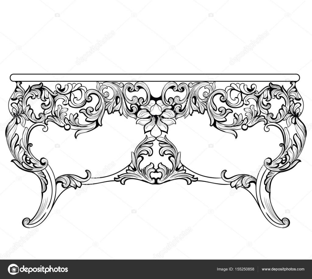 Mesa consola barroco Imperial. Lujo francés tallado adornos ...