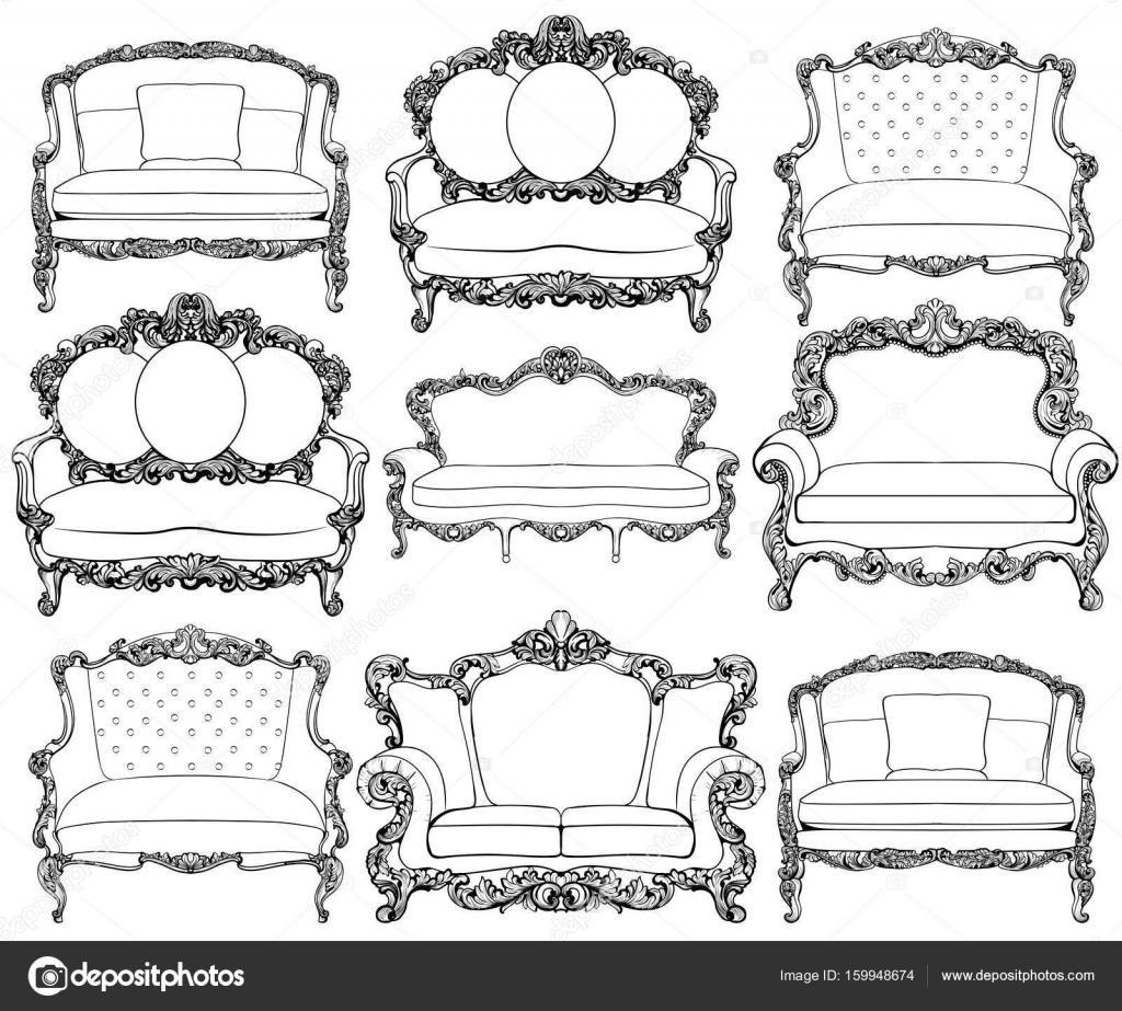 Vintage Luxus Barock Stil Sessel Möbel set Sammlung. Französische ...