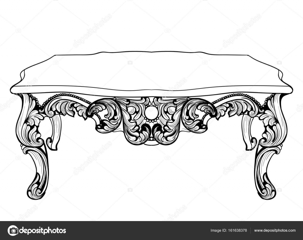 Imperial baroque console table french luxury carved ornaments imperial baroque console table french luxury carved ornaments decorated table furniture vector victorian royal geotapseo Images