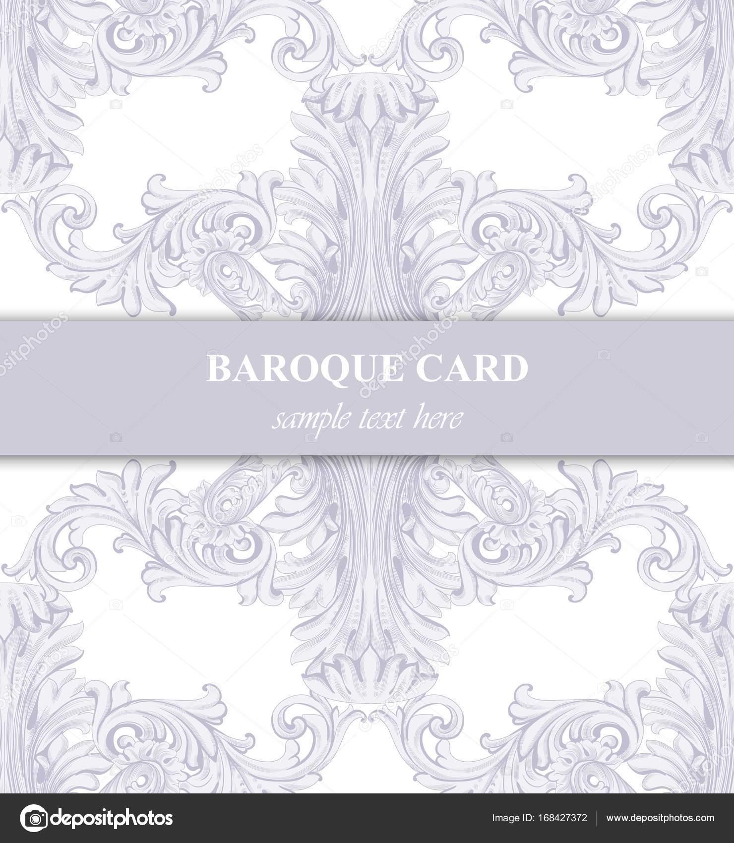 Luxury invitation card vector royal victorian pattern ornament luxury invitation card vector royal victorian pattern ornament rich rococo backgrounds pale lavender stopboris Images