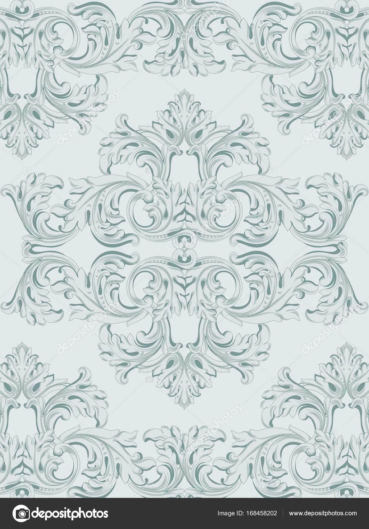 Luxury invitation card vector royal victorian pattern ornament luxury invitation card vector royal victorian pattern ornament rich rococo backgrounds blue bell stopboris Gallery