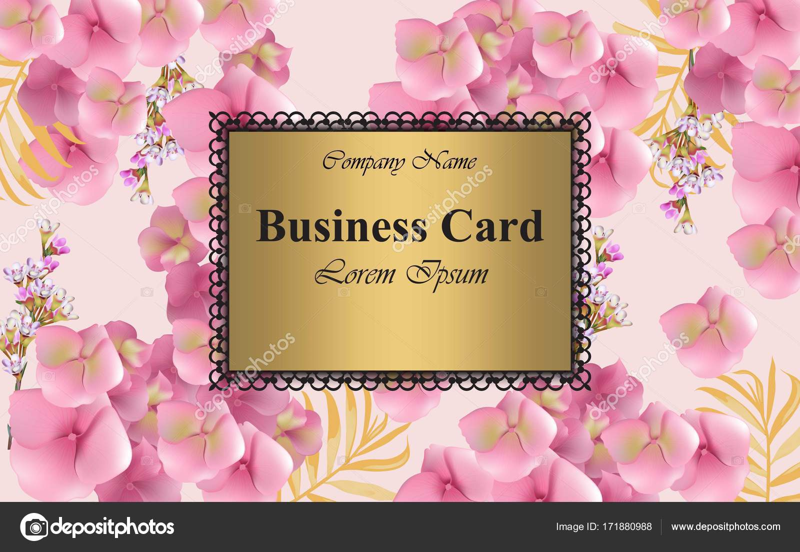 Luxury card with delicate flowers vector beautiful illustration for luxury card with delicate flowers vector beautiful illustration for brand book business card or poster pink background place for text vector by reheart Image collections