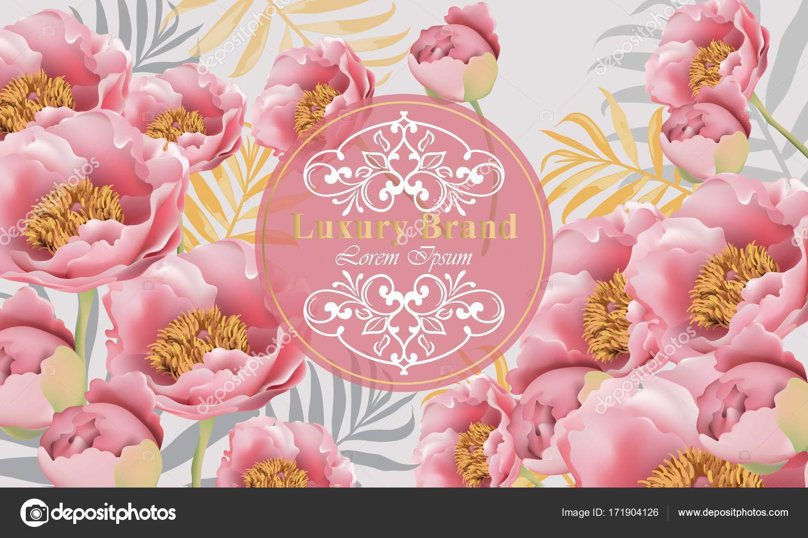 Pink flowers card vector beautiful illustration for invitation pink flowers card vector beautiful illustration for invitation wedding brand book business card or poster place for text vector by inagraurymail reheart Image collections