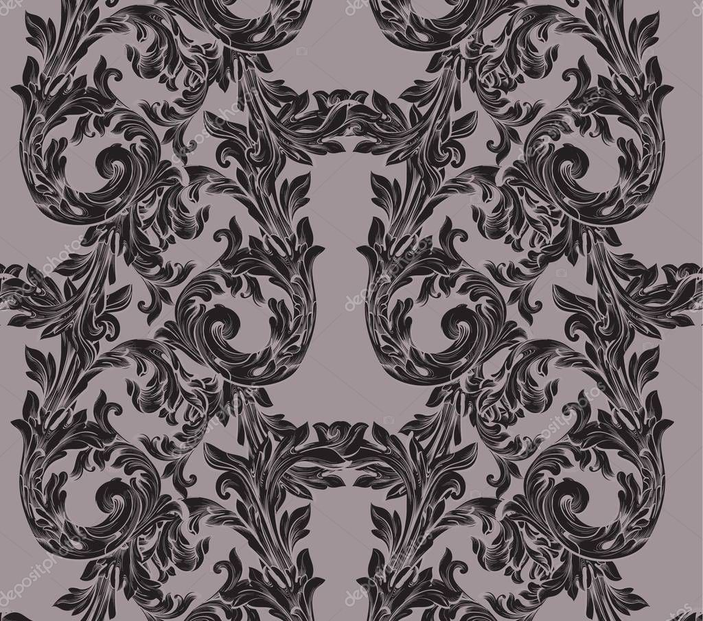 Broque paper Vector illustration handmade ornament decor. Vintage background textures