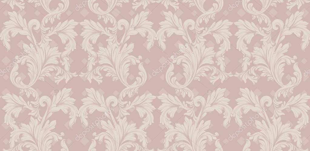 Damask pattern Vector illustration handmade ornament decor. Baroque background textures