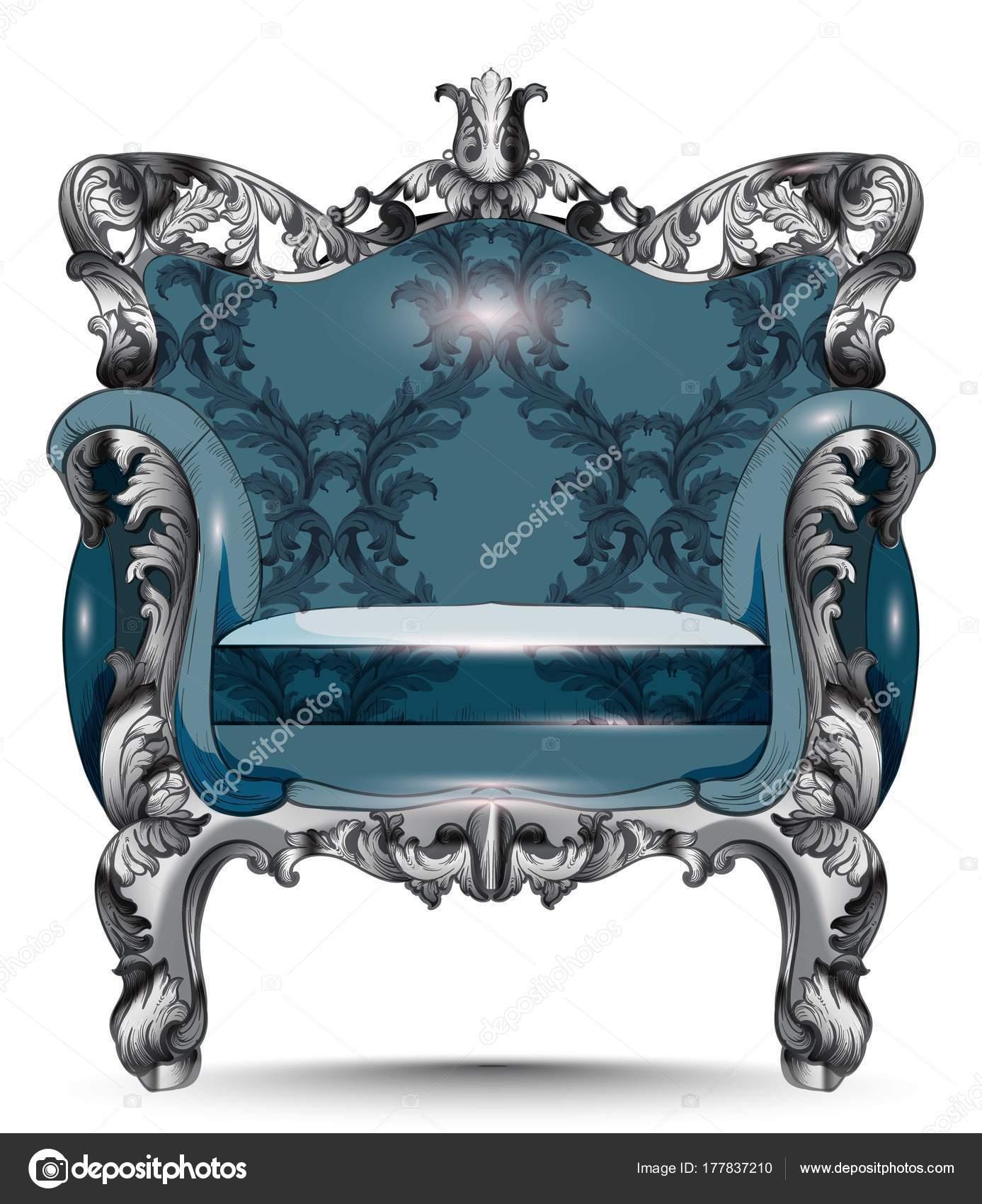 Sillón de lujo barroco. Muebles con estilo victoriano decorada tela ...