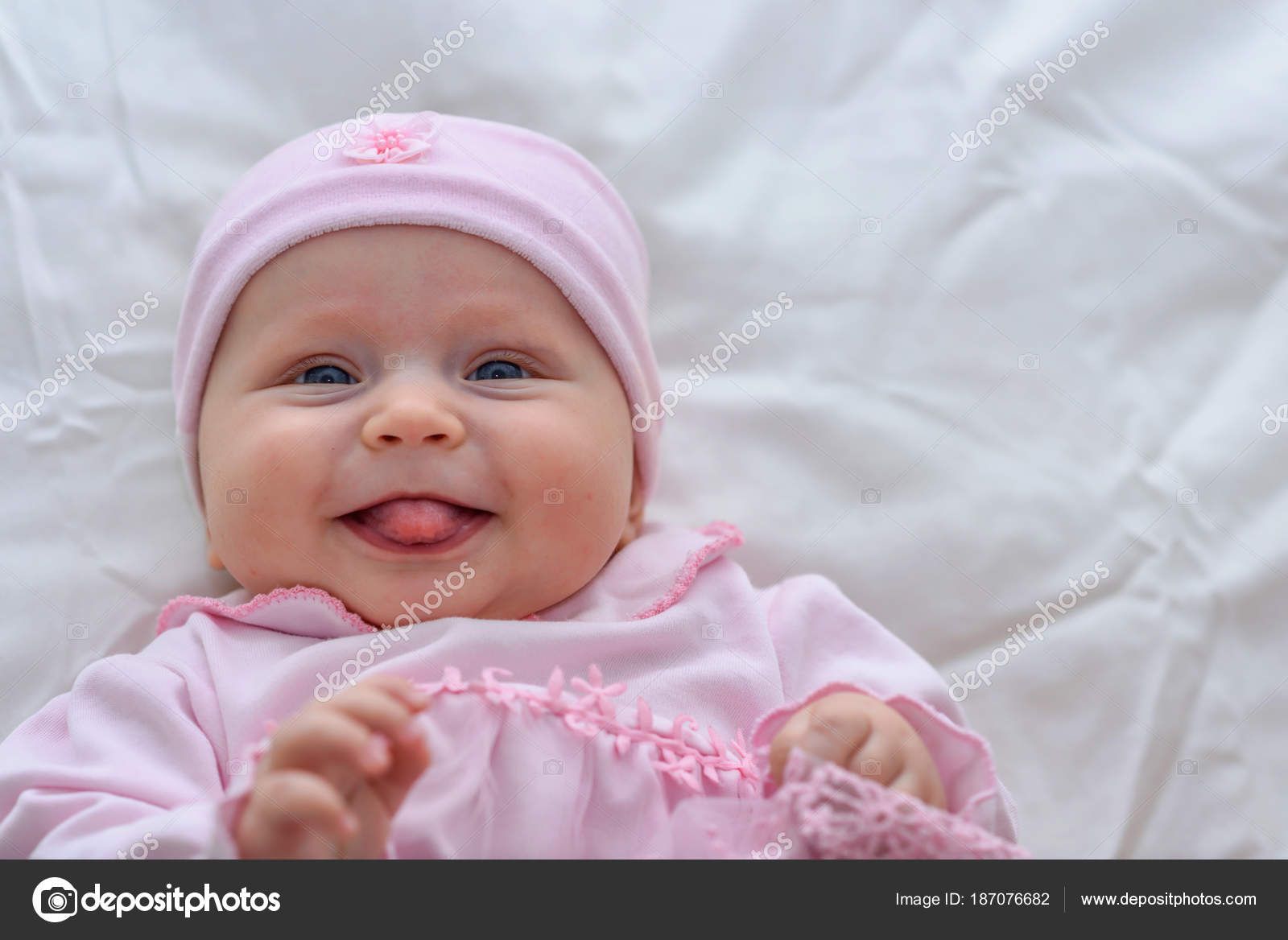 cute baby girl portrait. sweet little girl all dressed in pink cloth