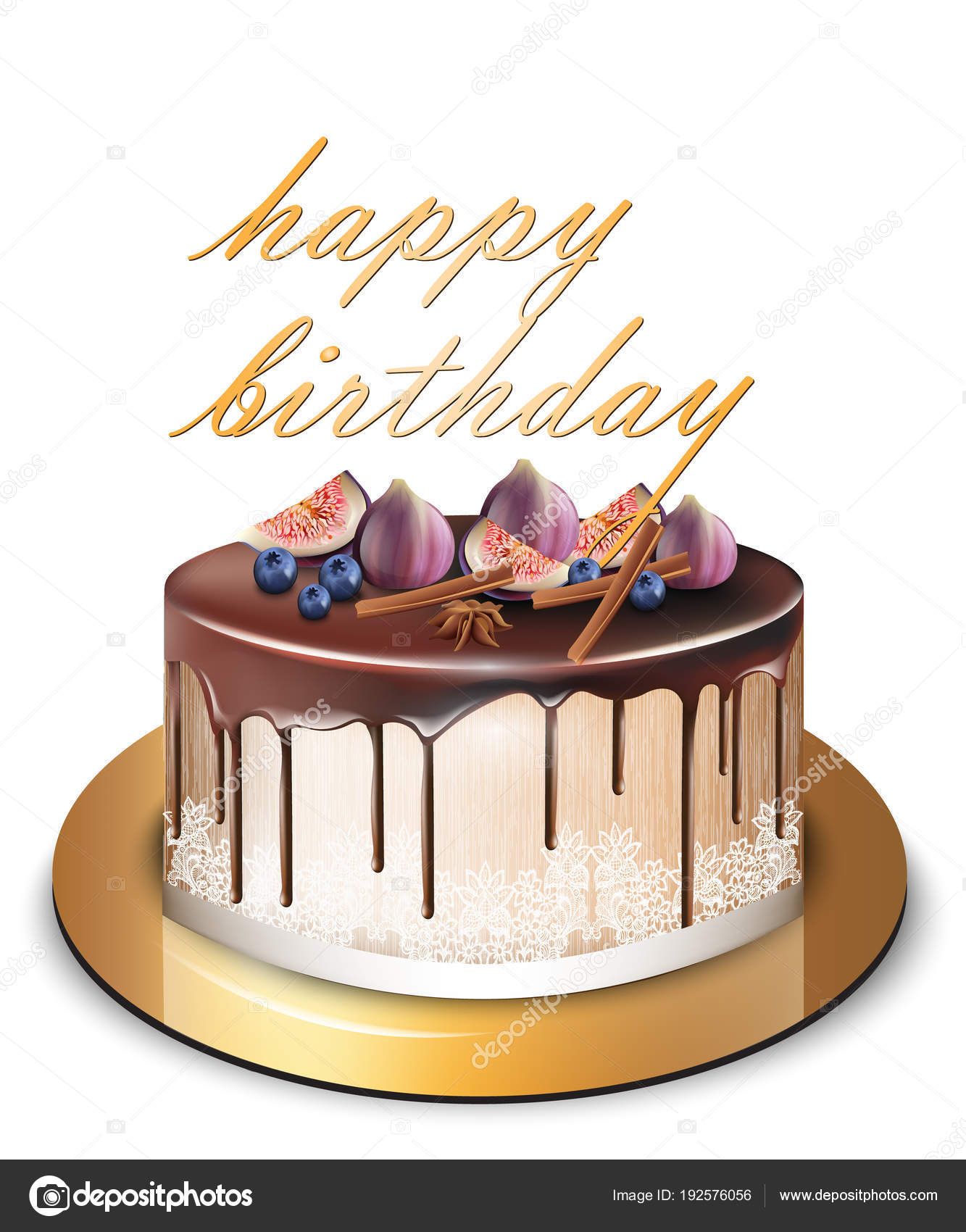 Fabulous Happy Birthday Designer Cake Happy Birthday Modern Cake With Fig Personalised Birthday Cards Beptaeletsinfo