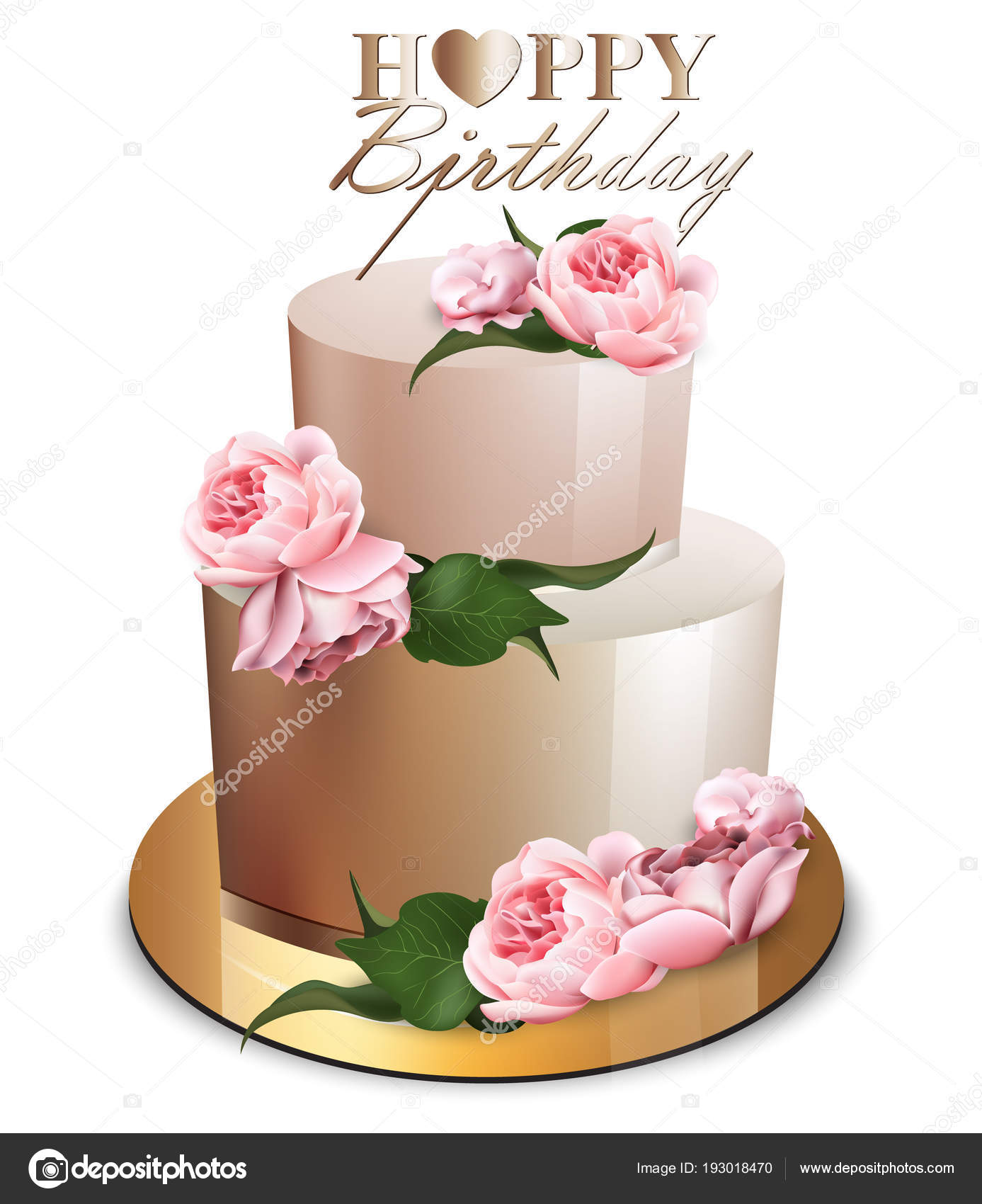 Peachy Modern Birthday Cakes Happy Birthday Cake Vector Realistic Funny Birthday Cards Online Inifodamsfinfo