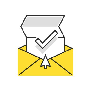 Sweets icon, inbox, receive mail concept