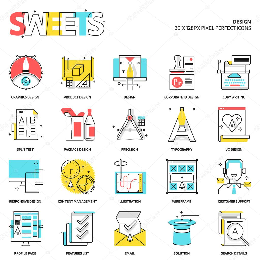 Sweets icons, design concept