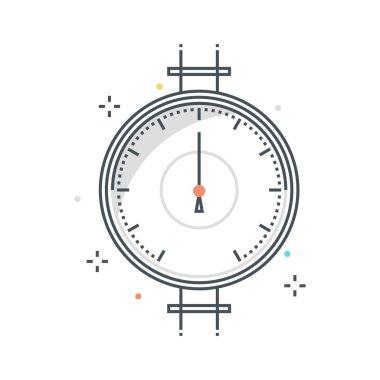 Color line, pressure meter concept illustration, icon