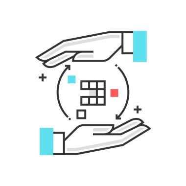 Color box icon, optimization concept illustration