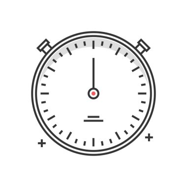 Color box icon, timer concept illustration, icon