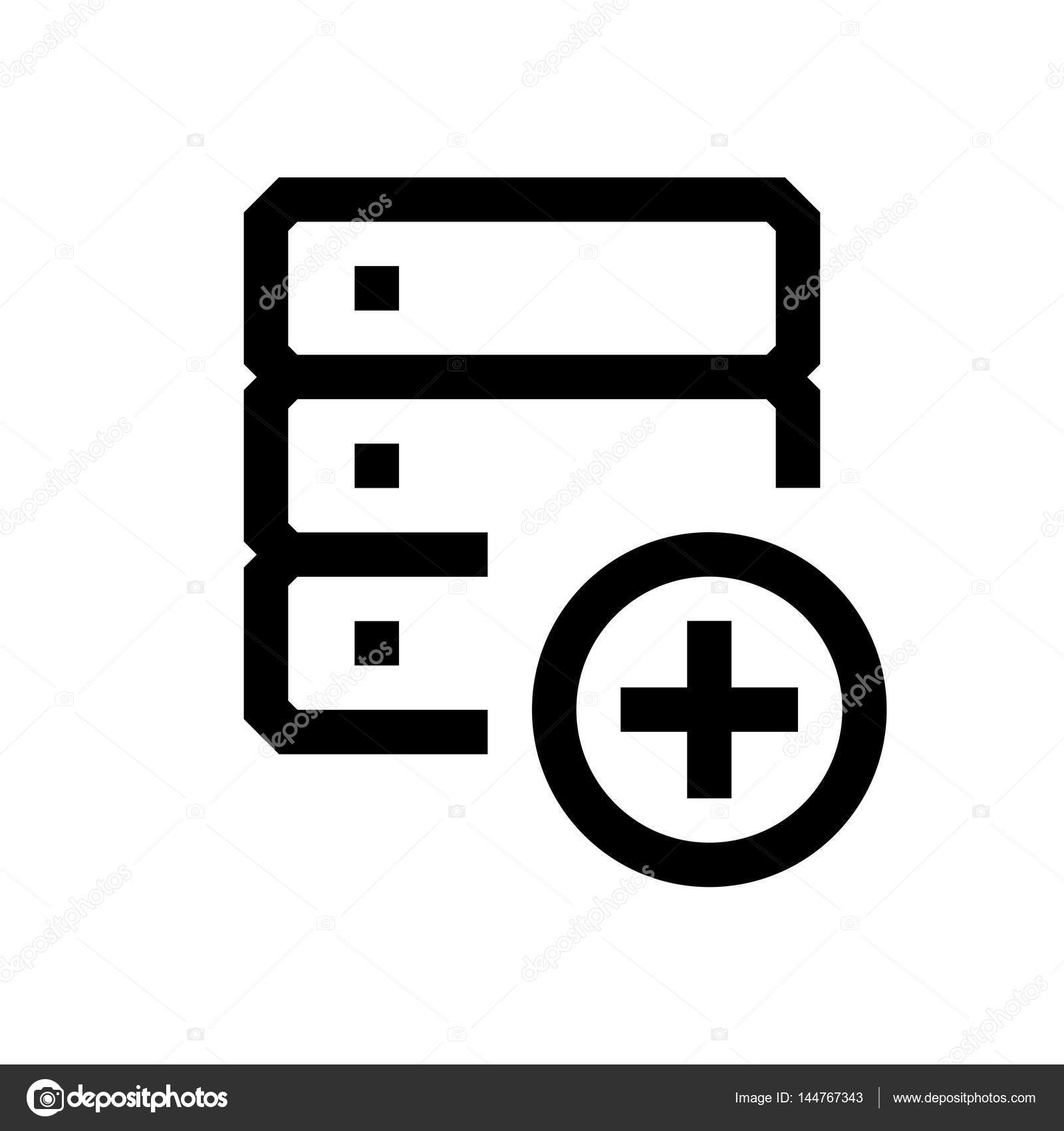 Ikona Mini Wiersza Bazy Danych Grafika Wektorowa