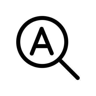 Search mini line, icon