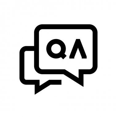 Questions and answers mini line, icon