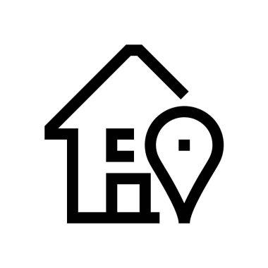 Building mini line, icon