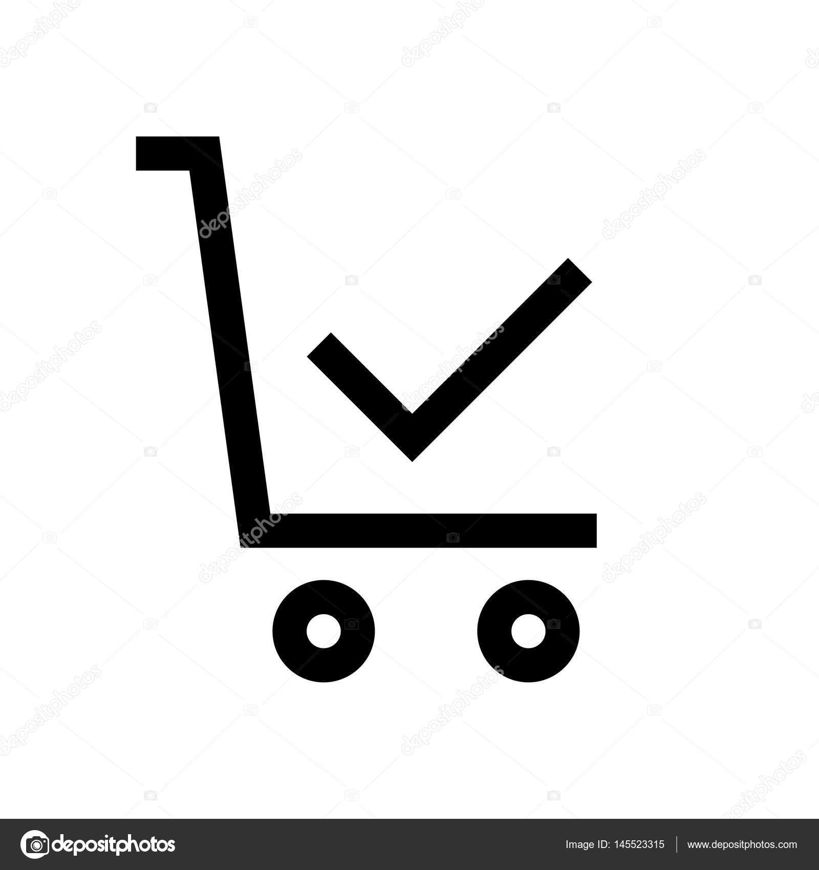 4ac552cff3 Linea mini carrello shopping, icona, sfondo e grafica. L'icona è piatto  bianco e nero, linear, vector, pixel perfetto, minimale, adatto per web e  stampa ...