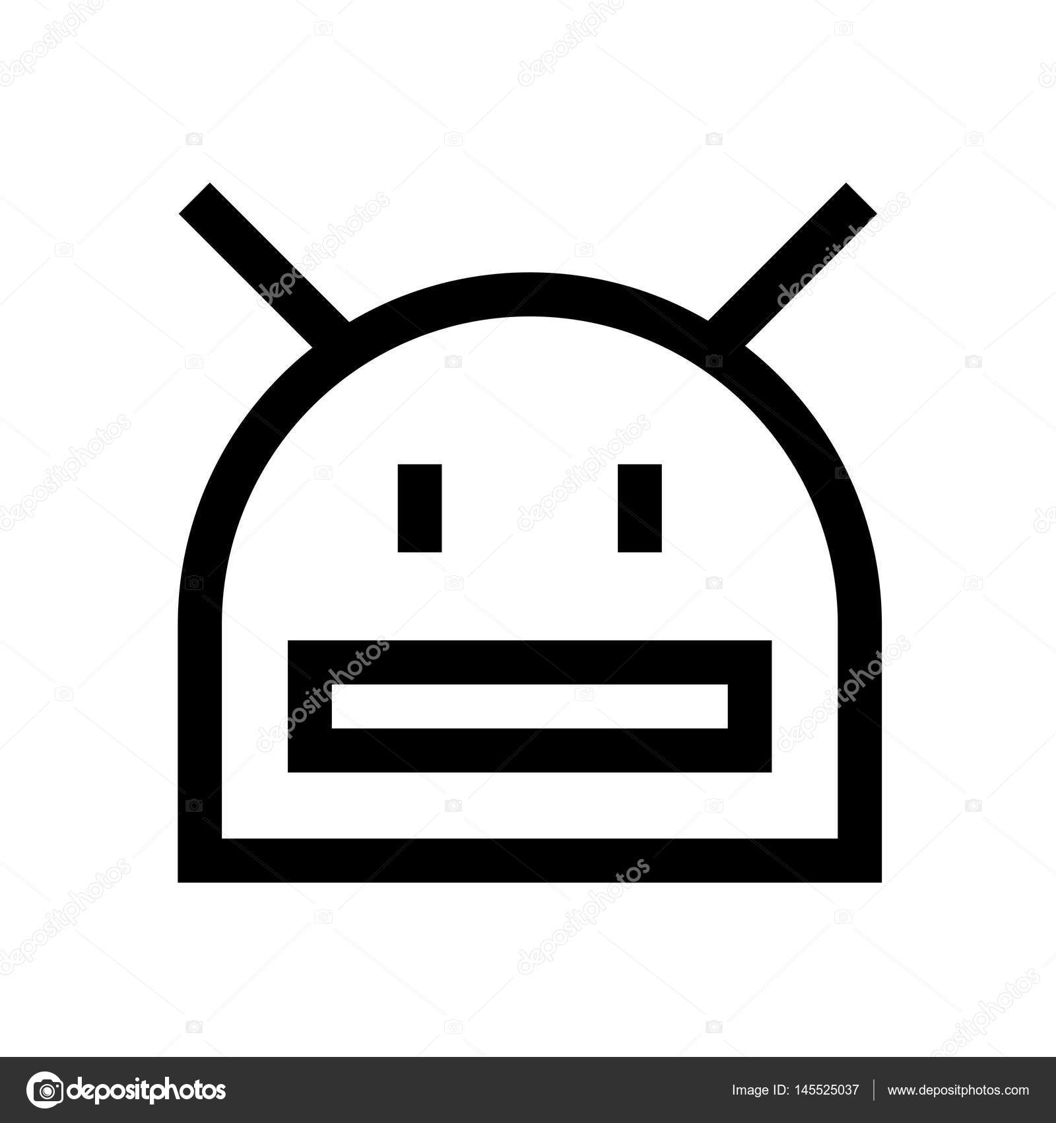 Robot Mini Line Icon Stock Vector Howcolour 145525037