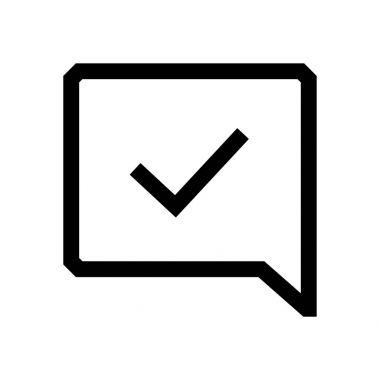 Speech bubble mini line, icon