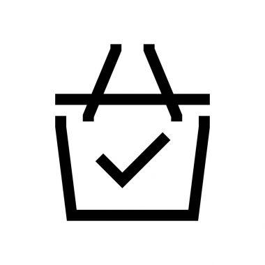 Shopping cart mini line, icon