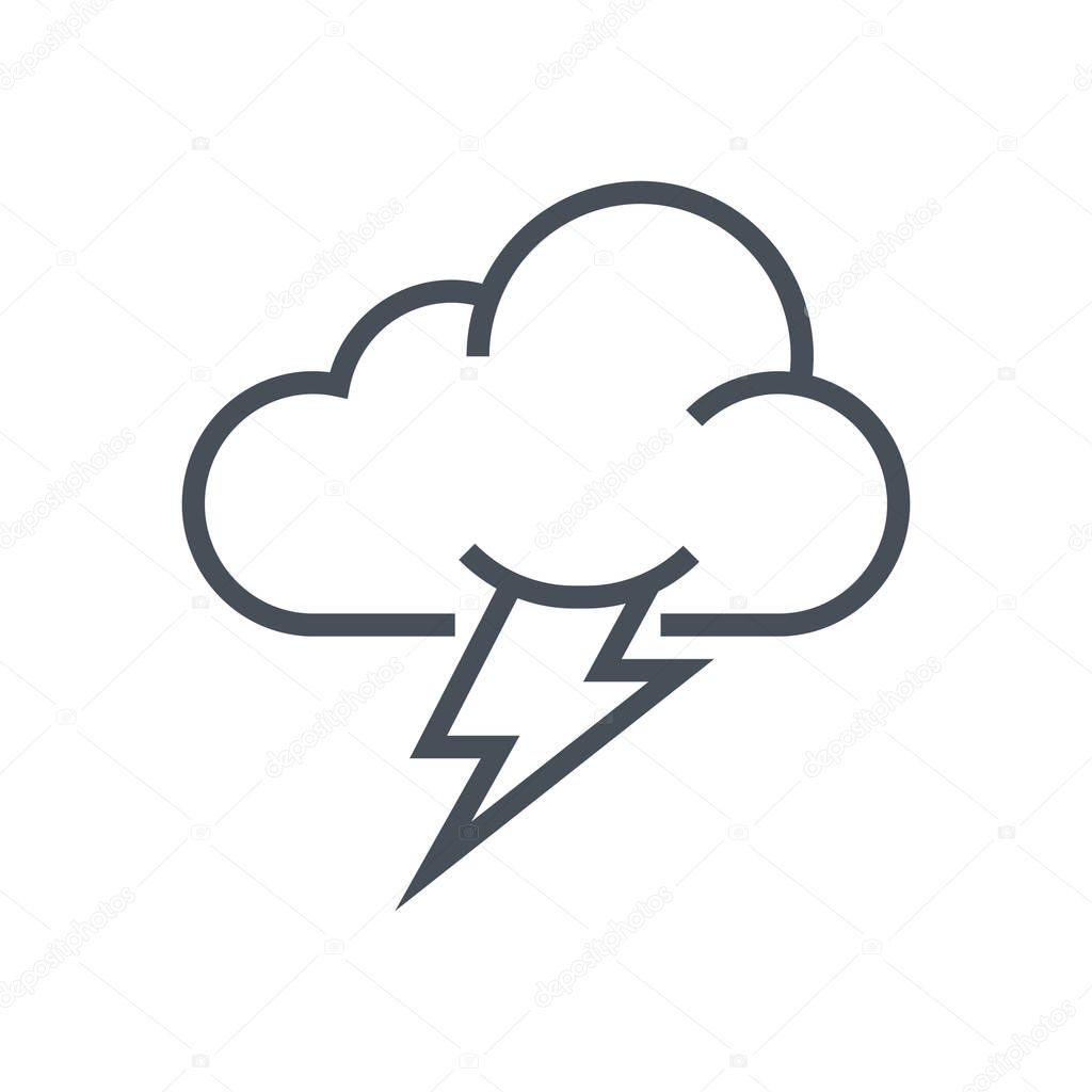 Thunder and cloud icon