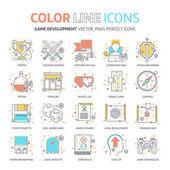 Color line, herní design, ilustrace, ikony