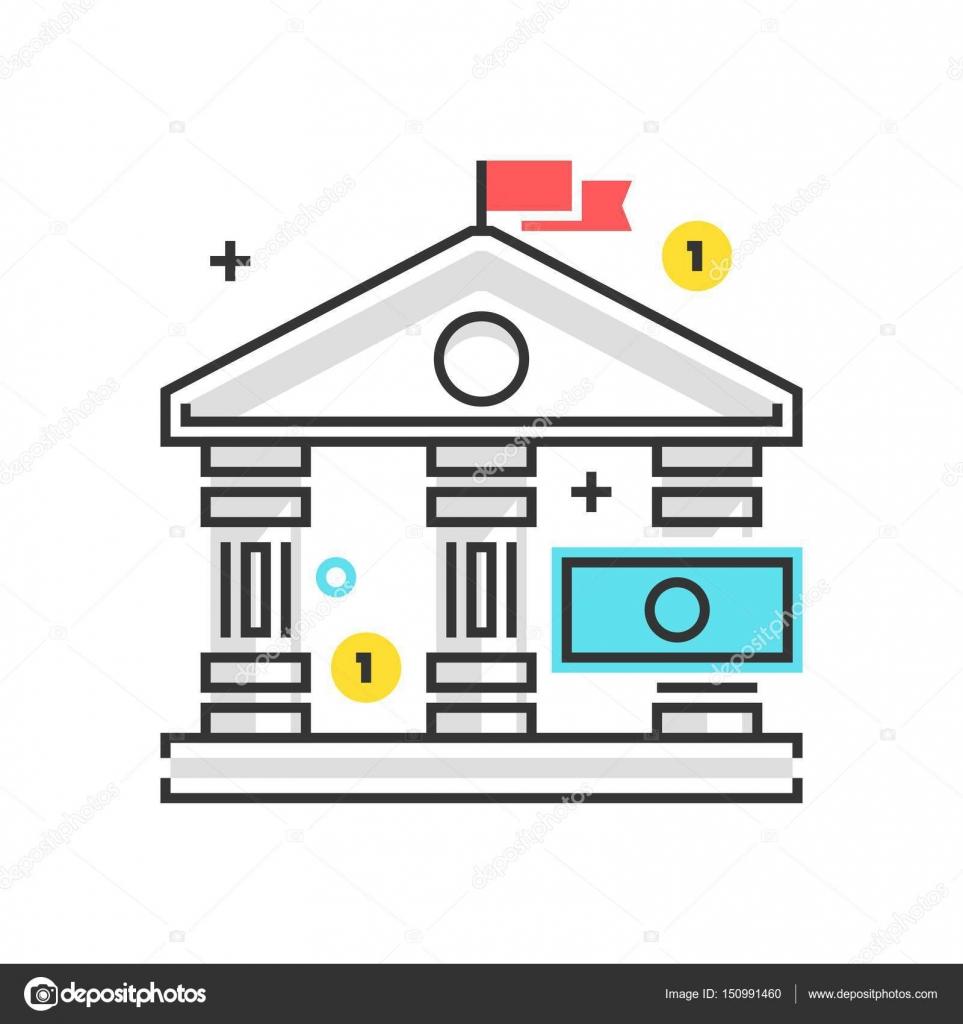 カラー ボックス アイコン銀行法のイラストアイコン ストック