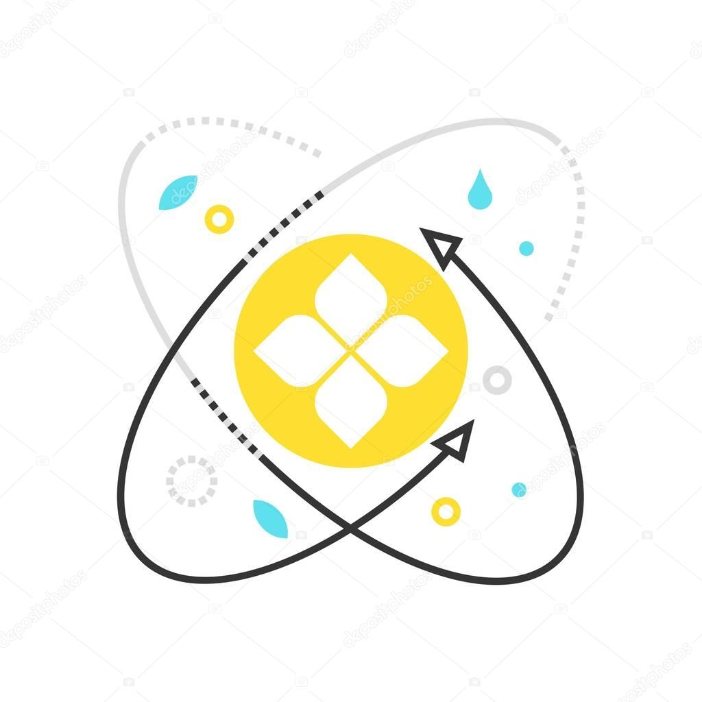 Color box icon, ecological science illustration, icon